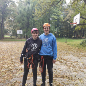 we got an opportunity to try out our campus zip line